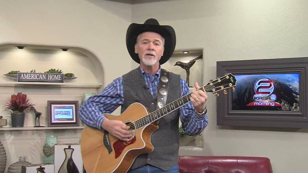 Western music songwriter and singer Jim Jones Appears on Fox New Mexico