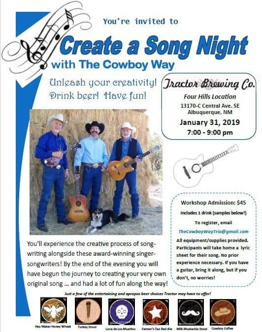 The Cowboy Way: Create a Song Night